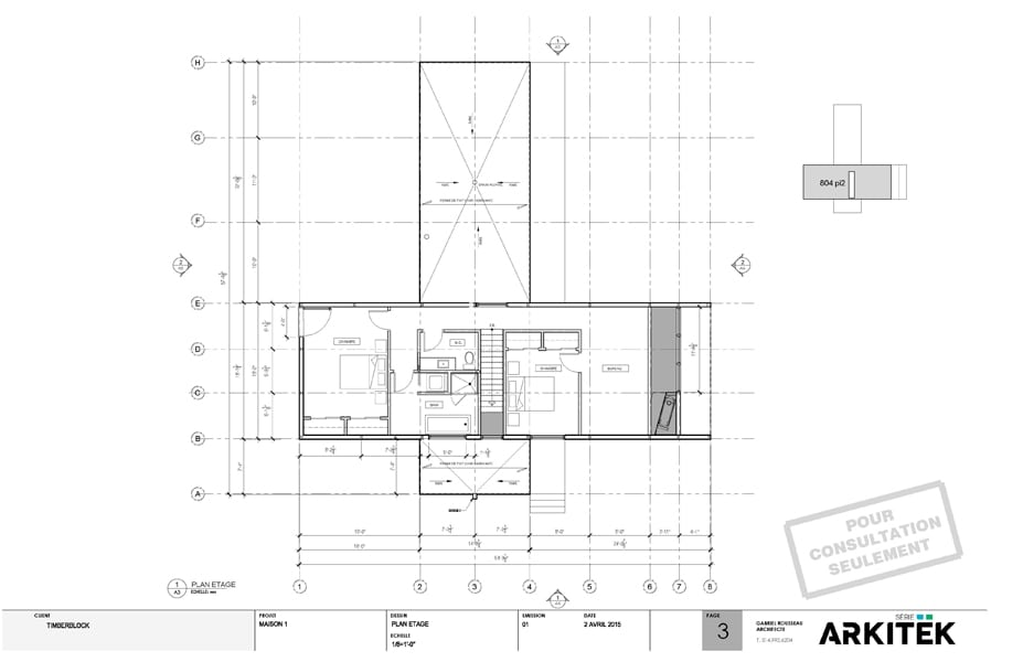 La s rie arkitek par timber block for Plans d arkitek